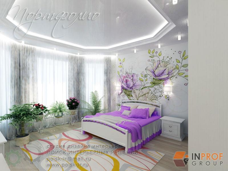 интерьеры с цветами на стенах фото