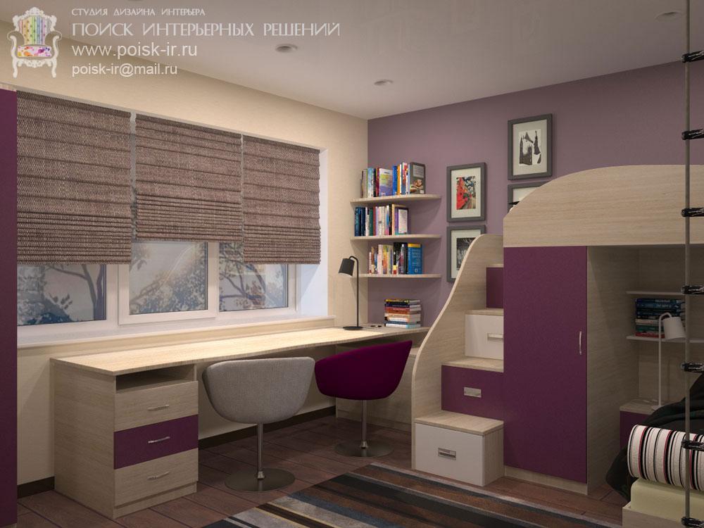 Дизайн интерьера с двухъярусной кроватью | 750x1000