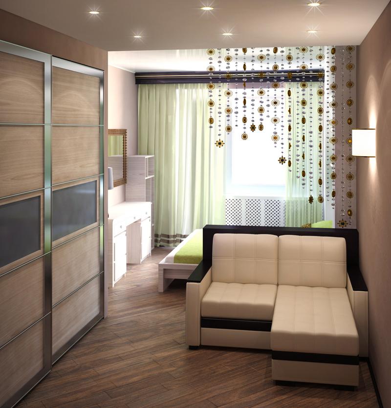 Интерьер одной комнаты 18 кв.м