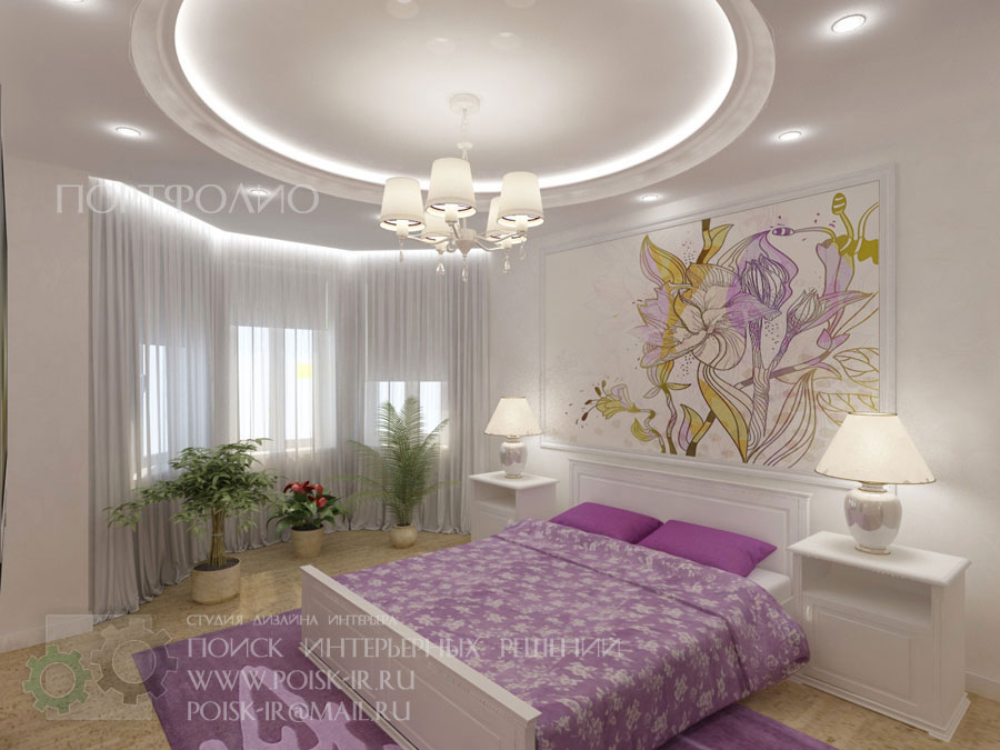Дизайн спальни с эркером фото