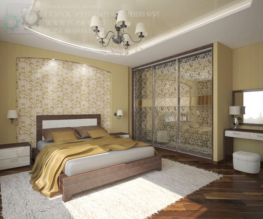 Дизайн интерьера спальни в