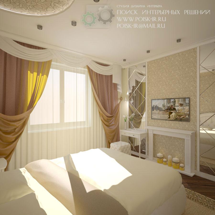 Дизайн спальни светлой
